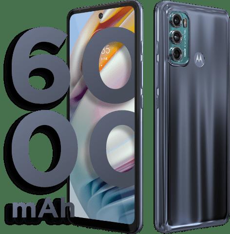 Bateria do Smartphone Moto G60. Bateria com 6000 mAh e duração de 54 horas.