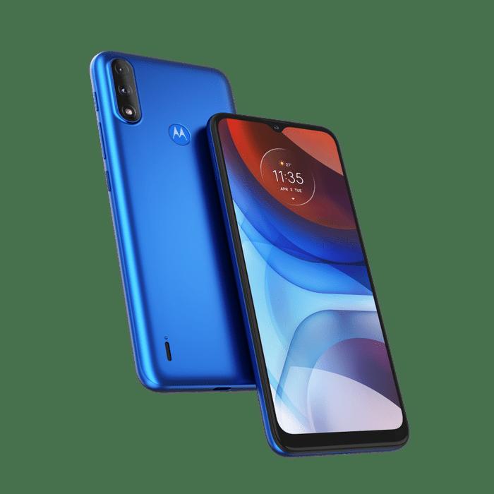 Smartphone-Moto-E7-Power-32GB-Imagem-Frontal-Curvada-Azul-Metalico-foto-1