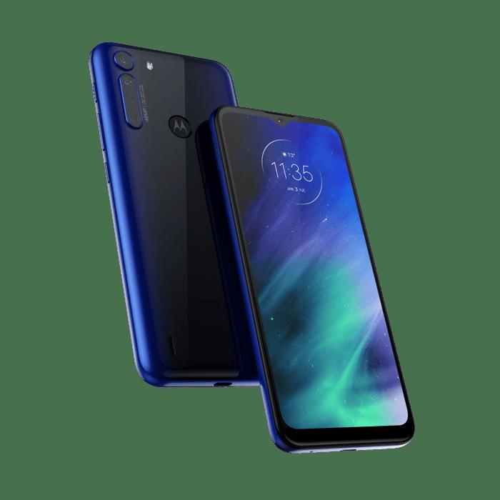 Smartphone-Motorola-one-fusion-128gb-Imagem-Frontal-Curvada-azul-safira