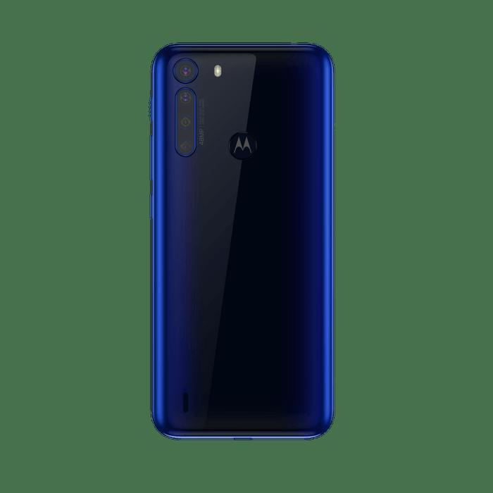 Smartphone-Motorola-one-fusion-128gb-Imagem-traseira-azul-safira