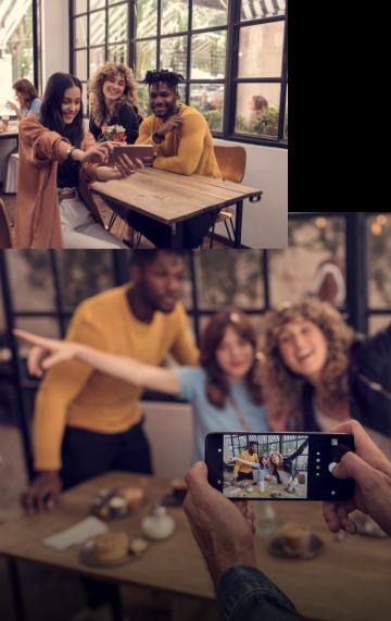 Imagem demonstrando a qualidade das fotos dos celulares da família g
