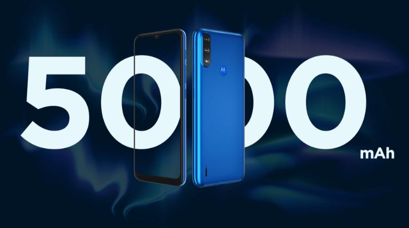 Imagem simbolizando 5000 MAH de bateria do Smartphone Moto E7 Power de 32 GB
