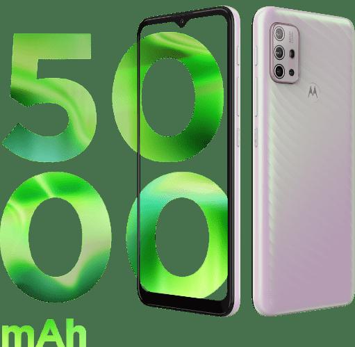 Imagem demonstrando a bateria do Smartphone Moto G10, com 5000 mAh