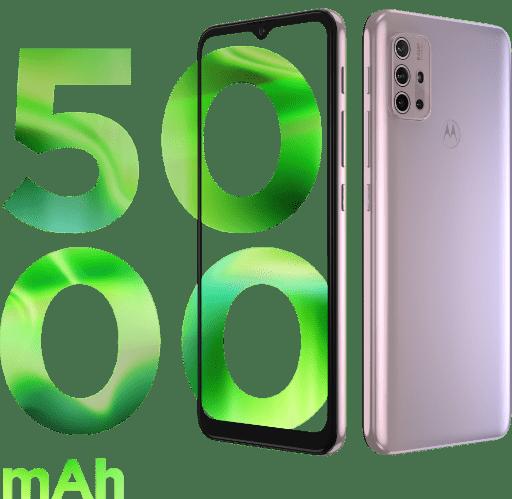 imagem demonstrando a capacidade de bateria do Smartphone G30, 5000 mAh de bateria.