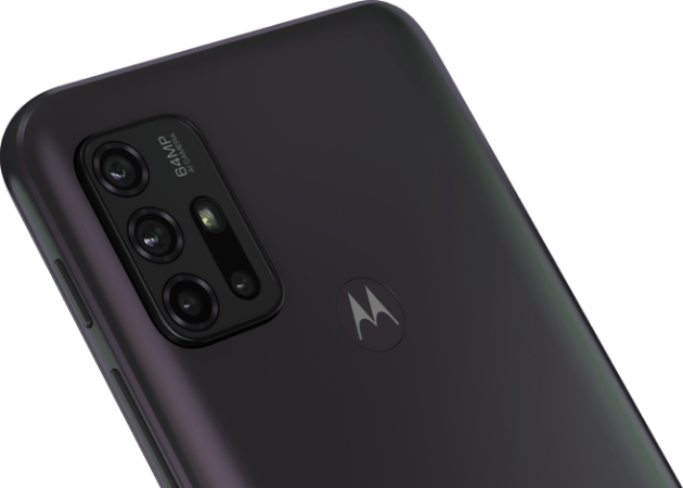 imagem demonstrando a câmera do Smartphone G30, câmera com sensor de 64 MP e tecnologia Night vision