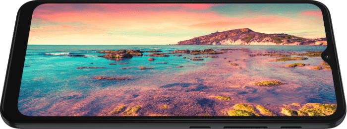 imagem demonstrando a tela do Smartphone G30, tela maxvision em Full HD de 6,5 com 90 Hz de taxa de atualização.